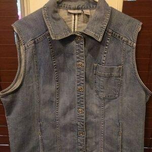 Chico's Platinum Sz 3 Jacket Vest Sleeveless